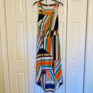 Multi Color Hi-Low Dress